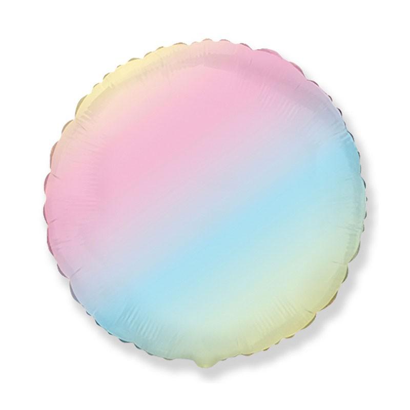 Palloncino foil tondo rainbow multicolor  45 cm 18\'\' 401500GP