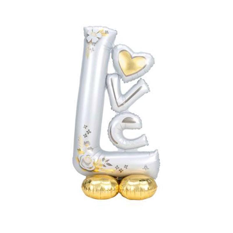 Pallone foil AirLoonz L-O-V-E Wedding 73x147 cm 4246511