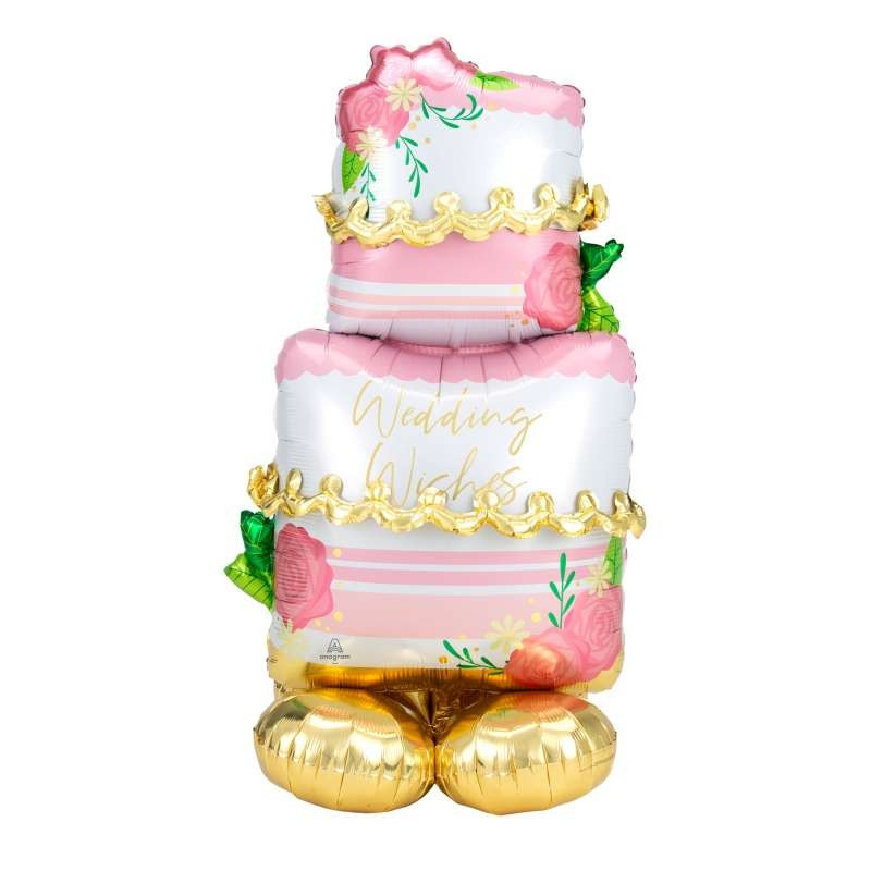 Pallone foil AirLoonz Wedding Cake 71x132 cm 4246611