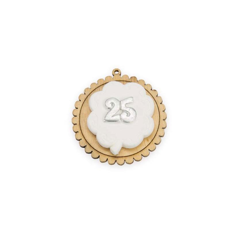 12 applicazioni legno / gesso 25 anni A2377 4 cm