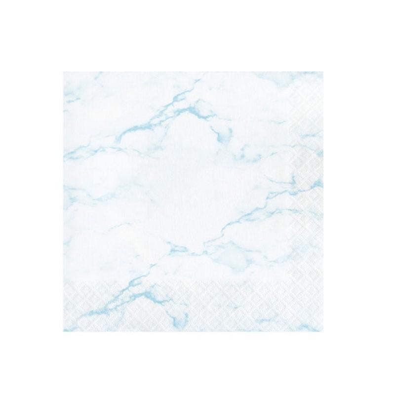 16 Tovaglioli 33 x 33 cm marmo azzurro 353973