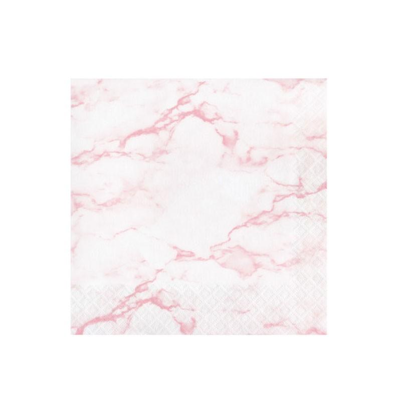 16 Tovaglioli 33 x 33 cm marmo rosa 353963