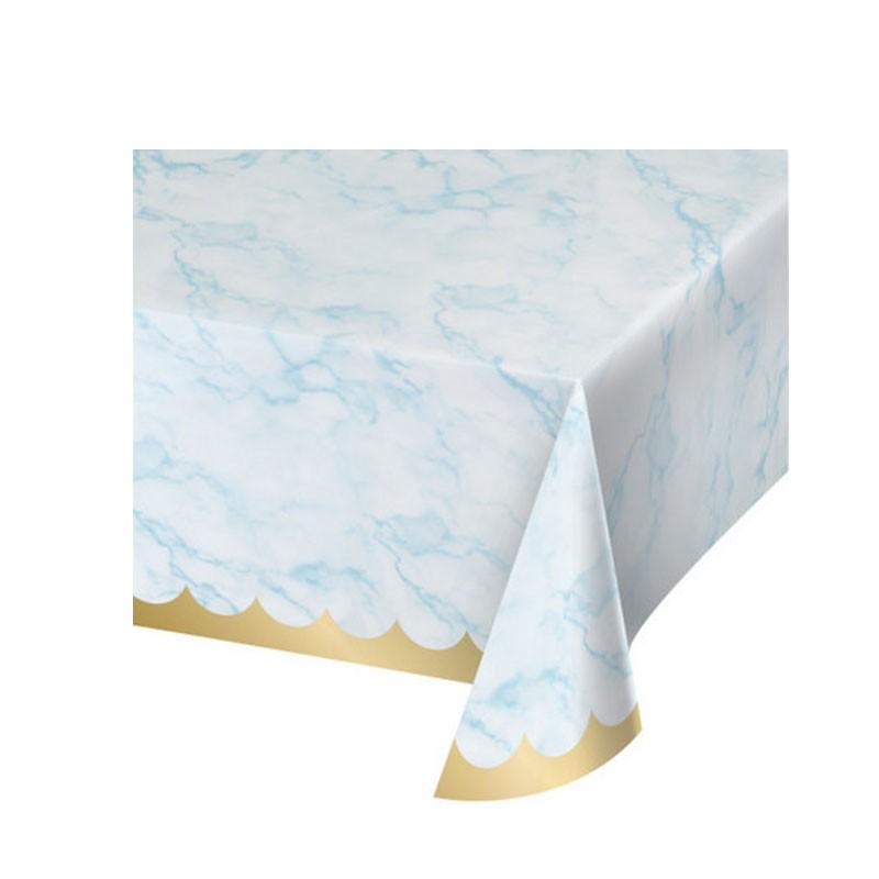 Tovaglia carta 137 x 259 cm marmo azzurrs 353980