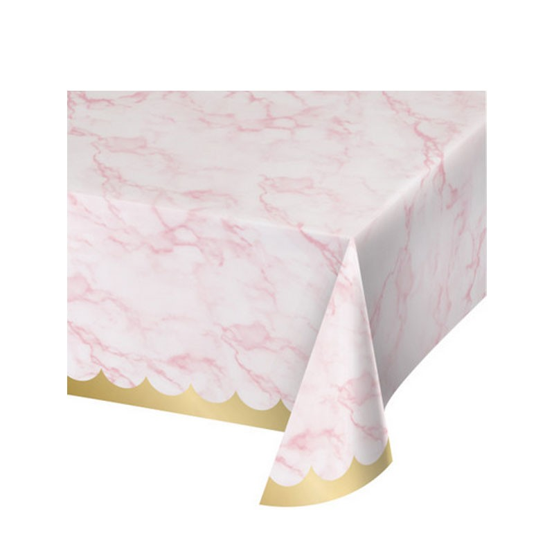 Tovaglia carta 137 x 259 cm marmo rosa 353966