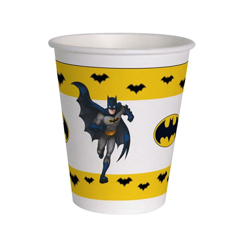 12 bicchierii Batman compostabili 200 ml 20222