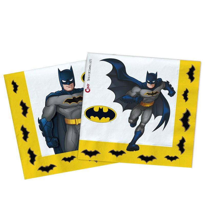30 tovaglioli Batman compostabili 33 x 33 cm 20223