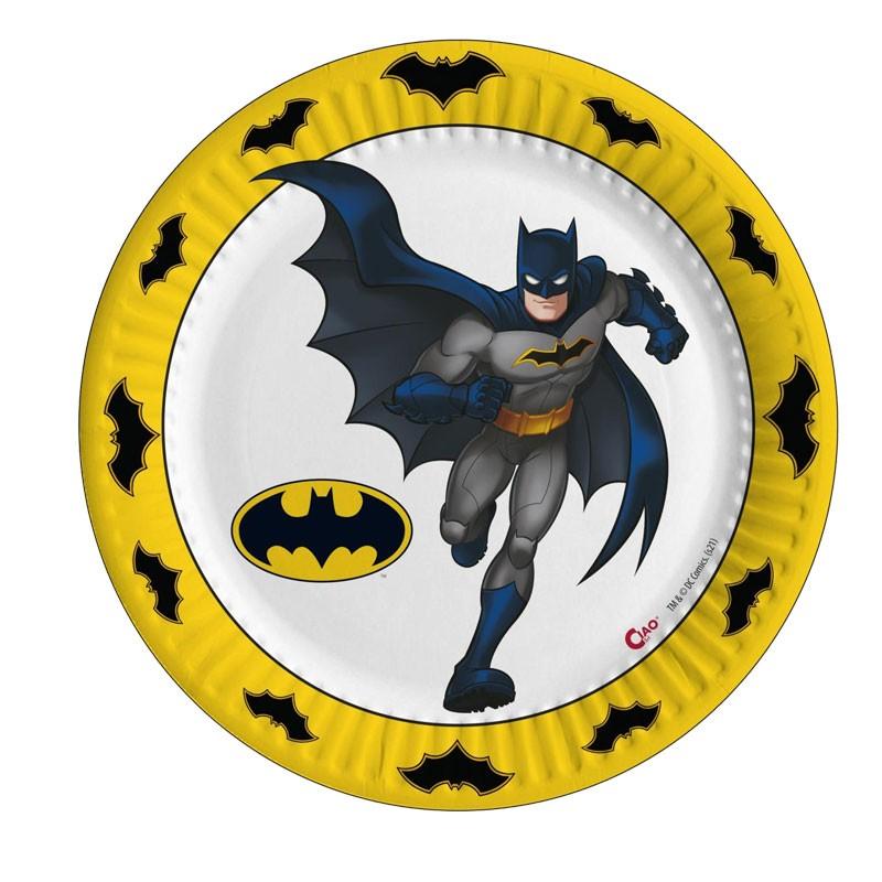 8 Piatti Batman compostabili 23 cm 20221