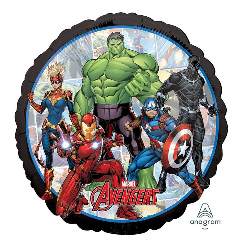 Palloncino Foil Tondo Avengers powers unite 18 45 cm 39867-01