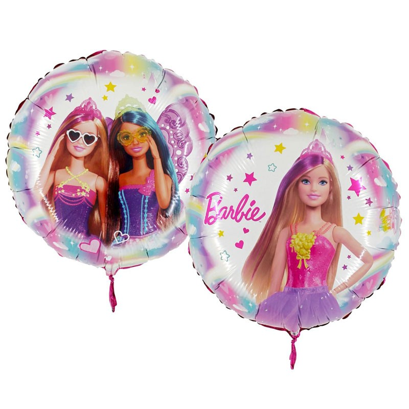 palloncino foil tondo Barbie 34828 18\'\' 45 cm