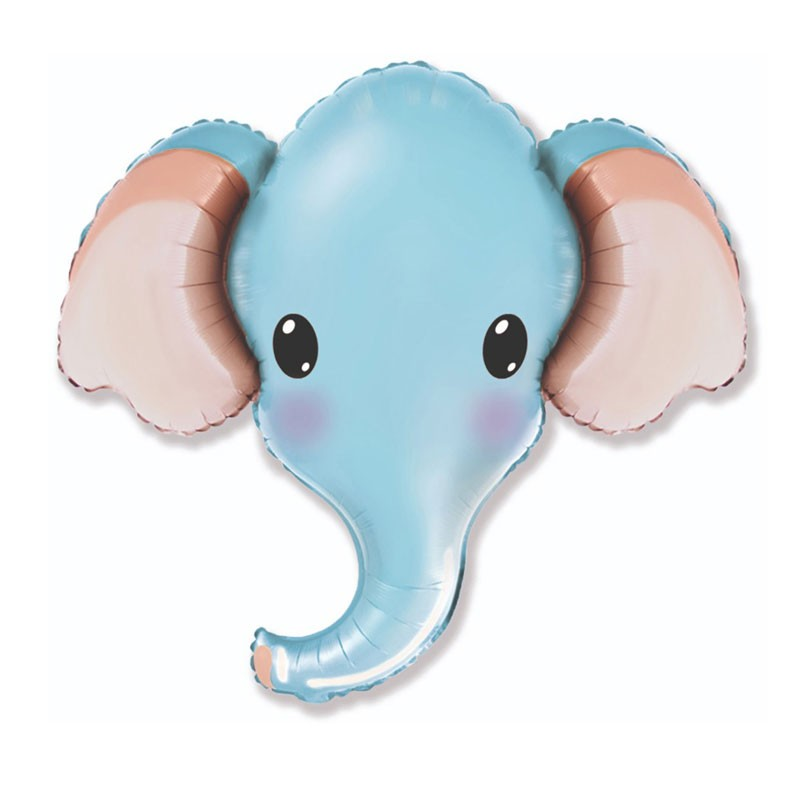 Palloncino supershape Elefante Testa Celeste Sagomato 32 81 cm 901805AFX