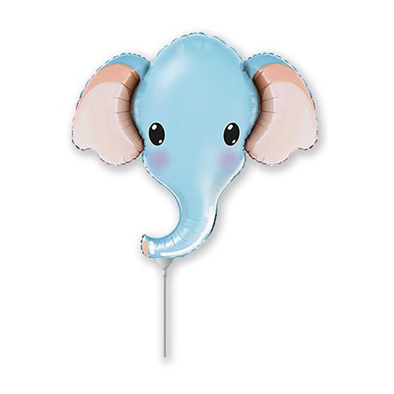 5 palloncini Elefante Celeste Testa MiniShape 12 30 cm 902805AFX