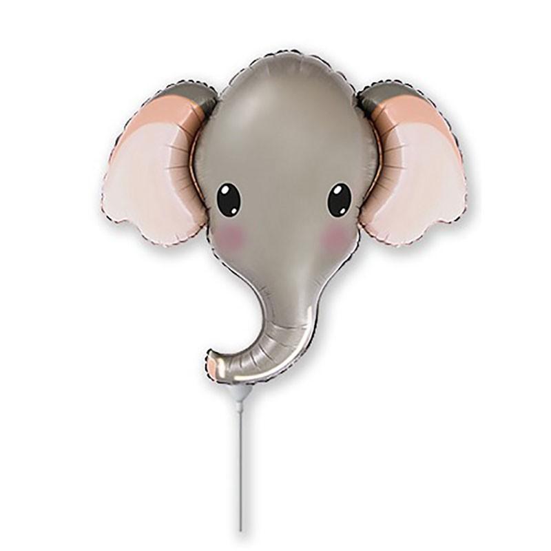 5 palloncini Elefante grigio Testa MiniShape 12 30 cm 902805FX