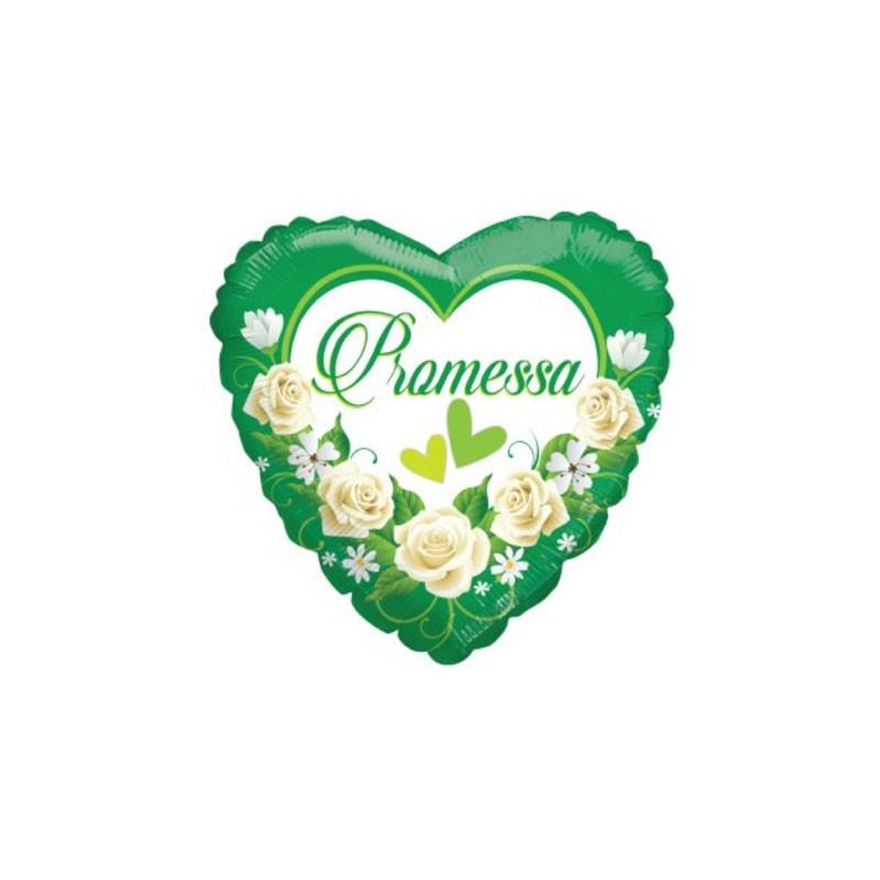 5 Palloncini mini shape Cuore Promessa 9 23 cm 985596-01