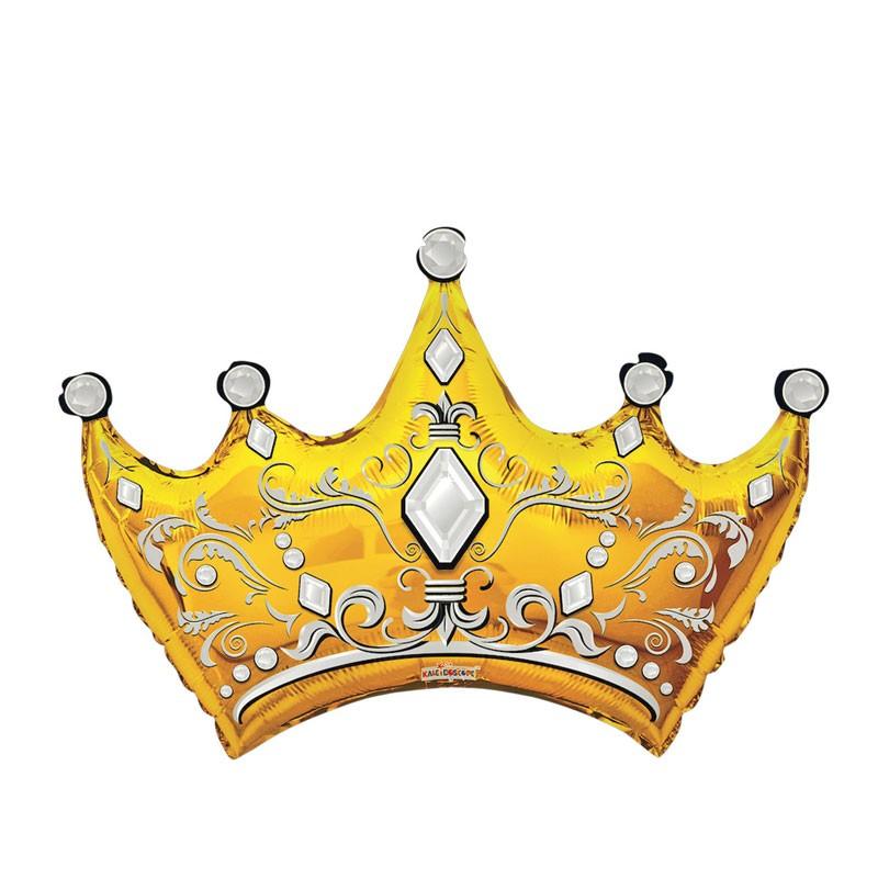 Palloncino Supershape Sagoma Corona oro 36 91 cm 35809-36/01