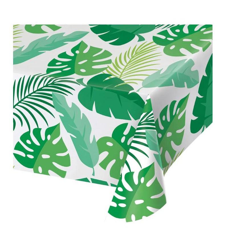 Tovaglia foglie di palma verdi 137 x 274 cm 346629