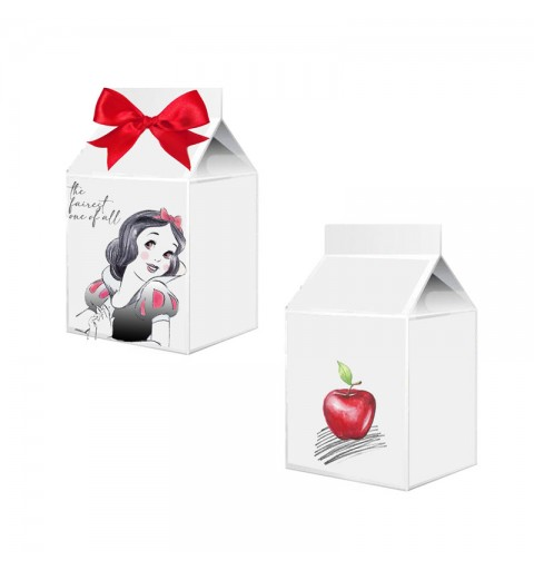 Scatolina in cartoncino milk biancaneve  5,5 cm  x 6 cm