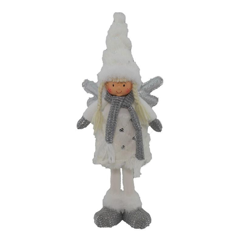 Fatina alzata in tessuto bianco silver 60229 42 cm