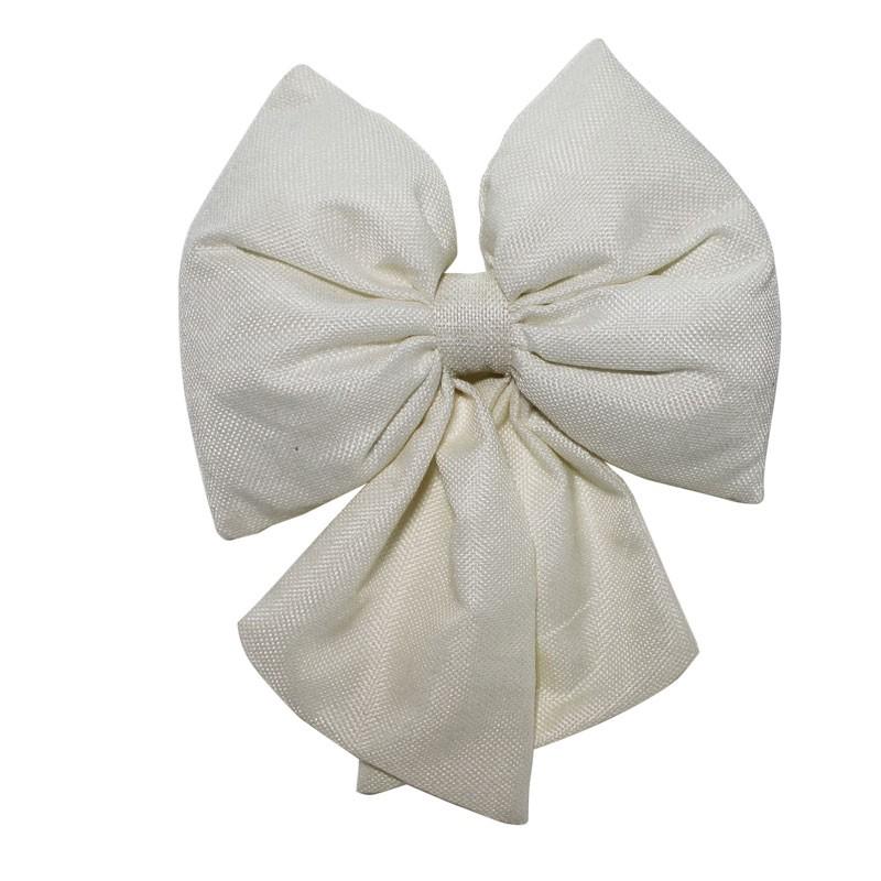 fiocco in tessuto bianco 15 cm 67495
