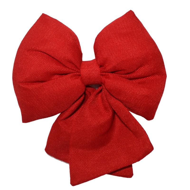 fiocco in tessuto rosso 67457 28 cm
