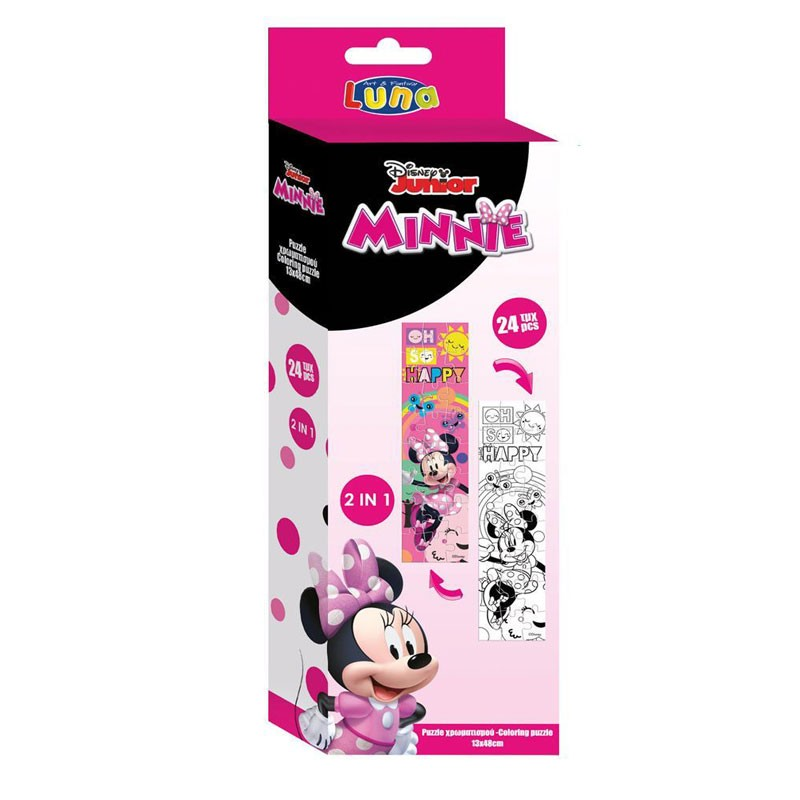 Puzzle Da Colorare Minnie 2 In 1 24 Pz. 12,7 x 47,7 Cm 562787