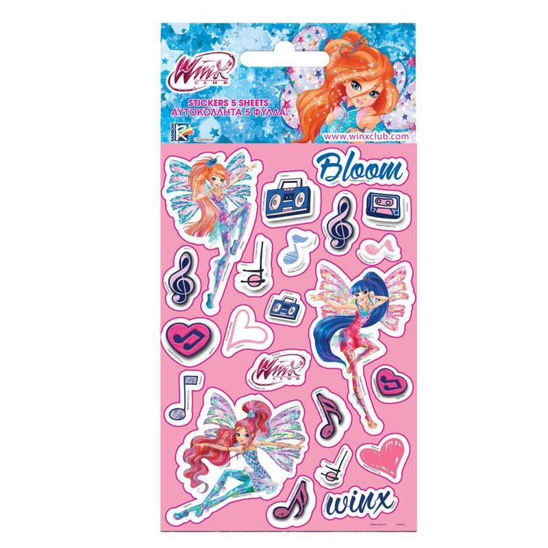 stickers Winx 5 fogli assortiti 502236