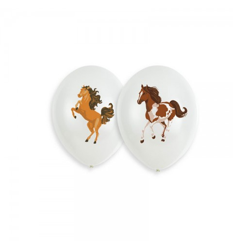 Palloncini 11 - 27,5 cm Cavallo beautyful Horses 6 pz 9909881