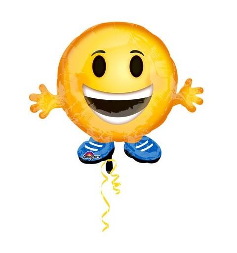 Pallone foil Juniorshape 21 - 53 cm Emoticon Buddy