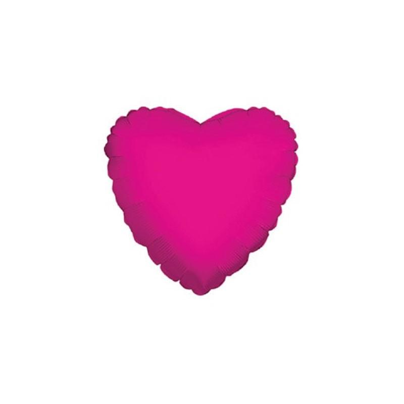 5 mini shape Mylar cuore fucsia 4 34105-04/02
