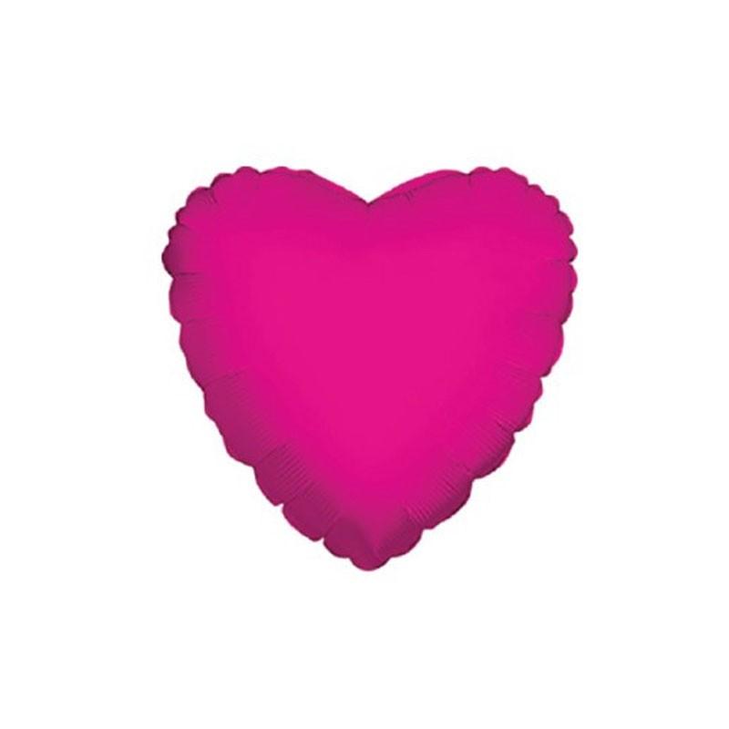 5 mini shape Mylar cuore fucsia 9 34105-09/02