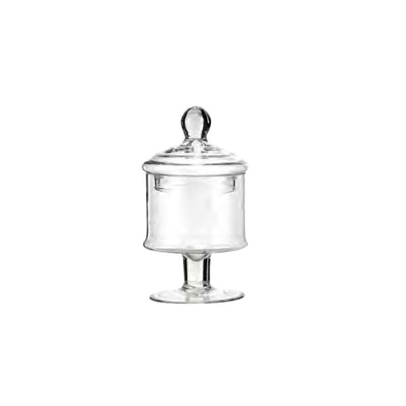 Vaso con coperchio confettiera in vetro con coperchio d.13 x 24 cm 629/23