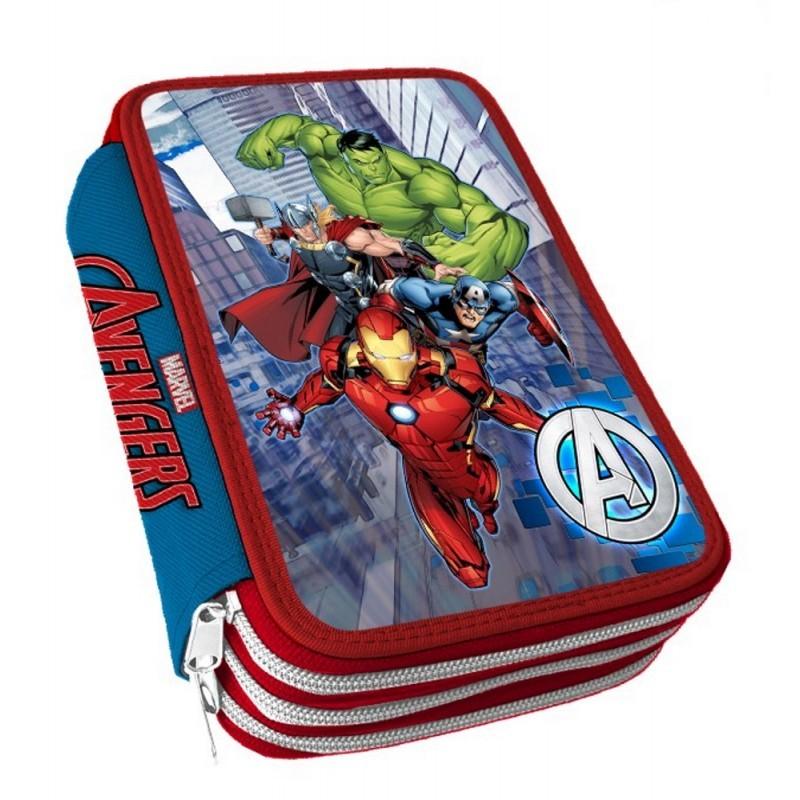 Astuccio 3 zip Avengers AV0718