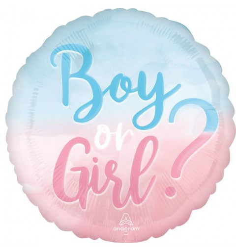 Palloncino foil boy or girl gender reveal party 45 cm 4283401