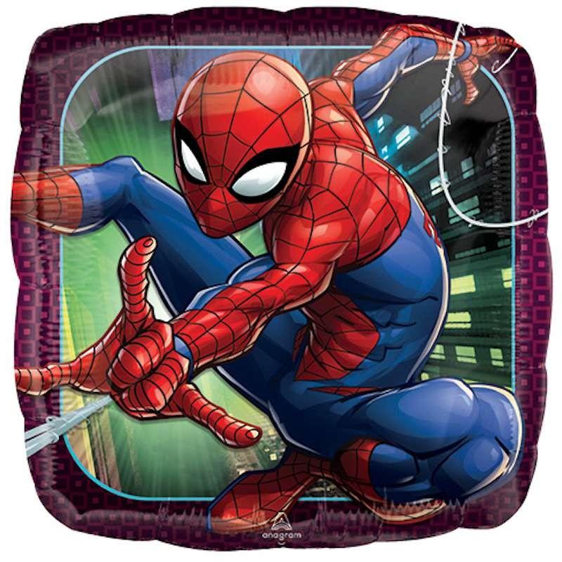 Palloncino foil quadrato spiderman 42 cm 3466301