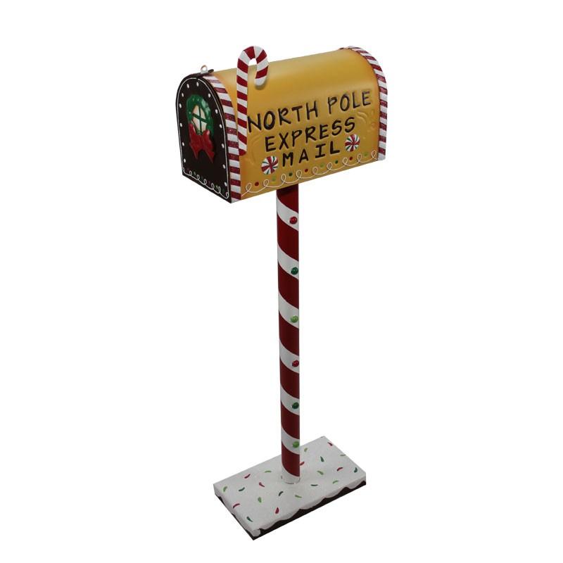 Portalettere natalizio pan di zenzero 61653 33 x 18 x 106