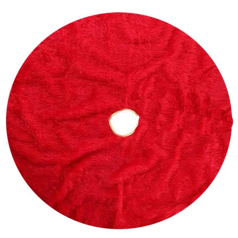 copribase albero di natale in tessuto rosso 120 cm 64692
