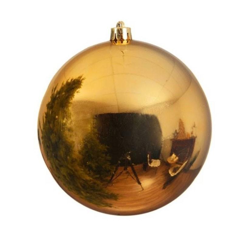 Pallina di natale sfera oro 25 cm diametro 022570