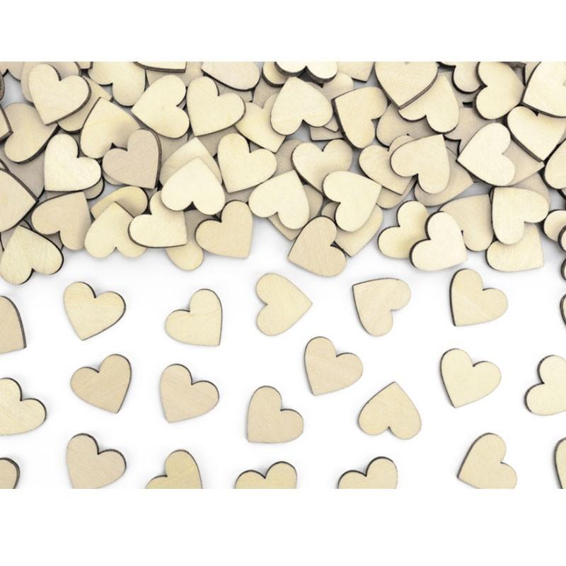 50 Coriandoli in legno a forma di Cuore 2 x 2 cm KONS2-100