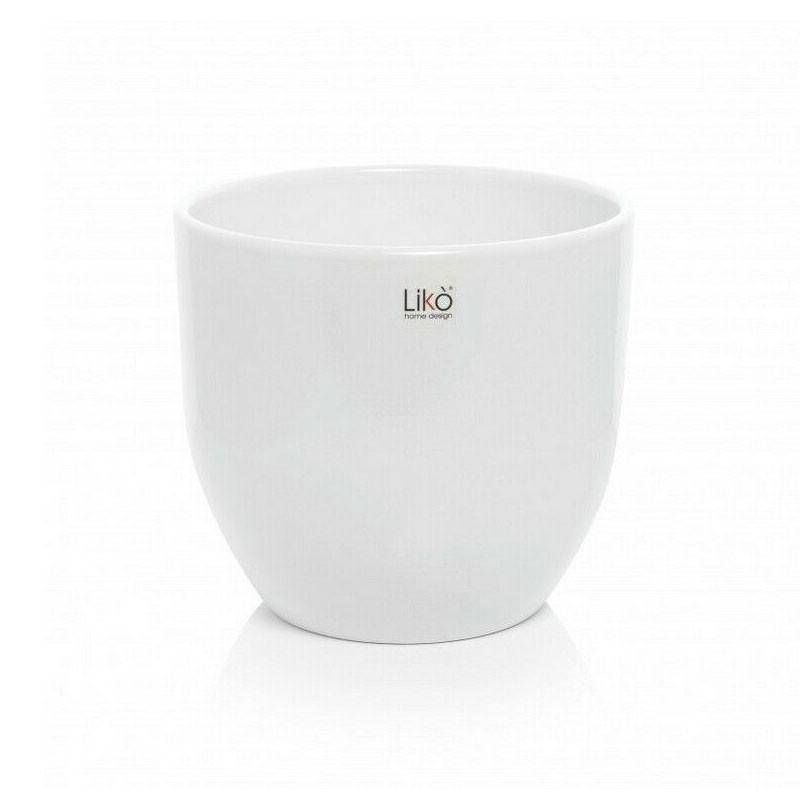 vaso caspò bianco CR06/17W diam. 17 cm  x 15,5 cm