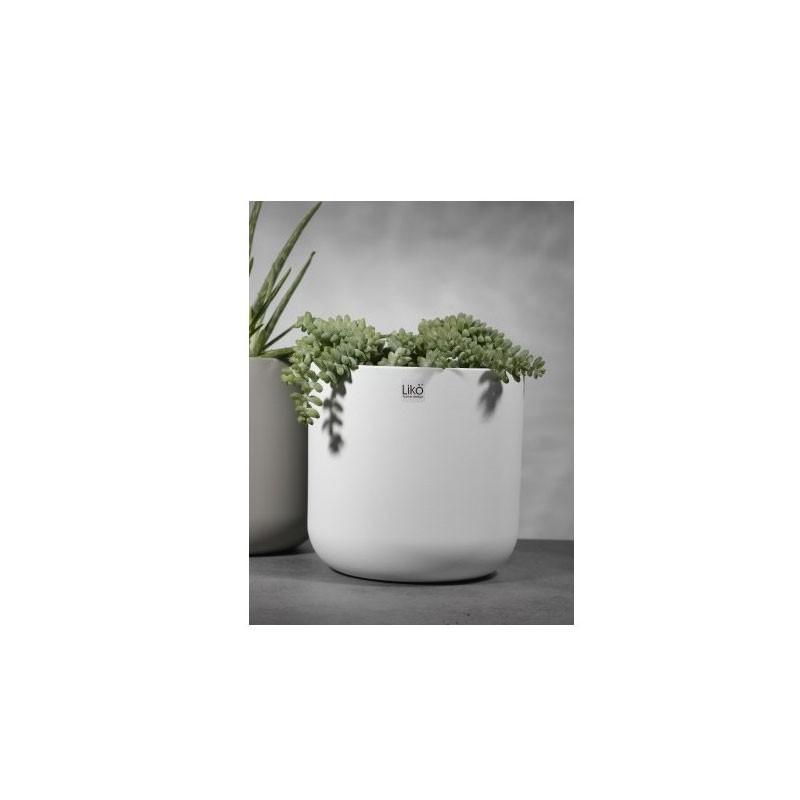 vaso caspò D.13.5 H 12,7 bianco matto CR18/14W