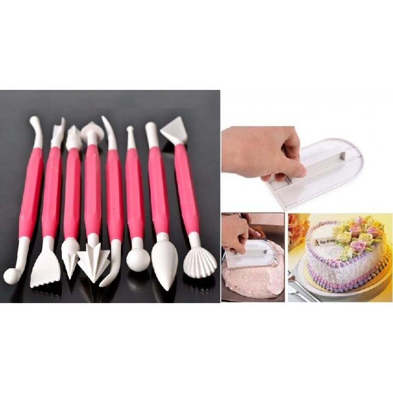 KIT CAKE DESIGN 8 ATTREZZI DECORA TORTA 703355