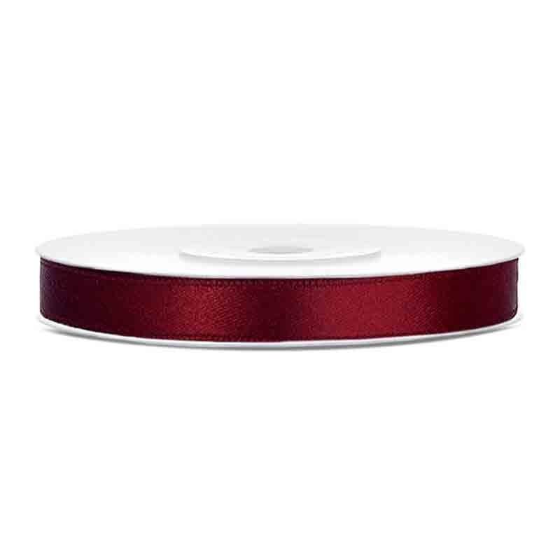 Nastrino Raso rosso scuro TS6-082 6 mm x 25 m