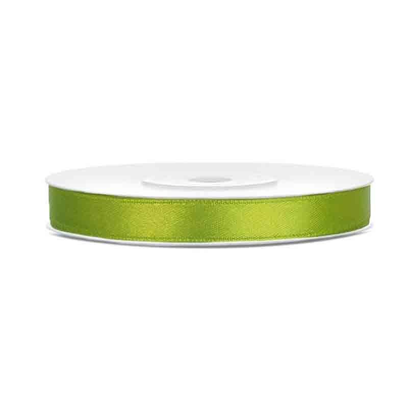 Nastrino Raso verde mela TS6-102J 6 mm x 25 m