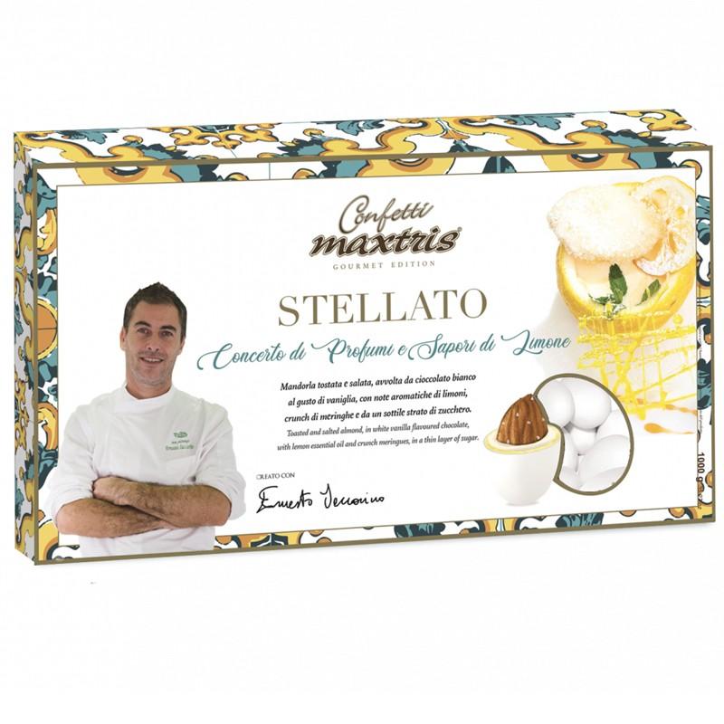 Confetti Maxtris Stellato 1 kg colore Bianco - MAXSTEL