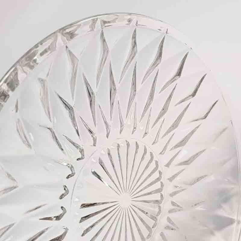 piattino in vetro diamante 15 cm 44543