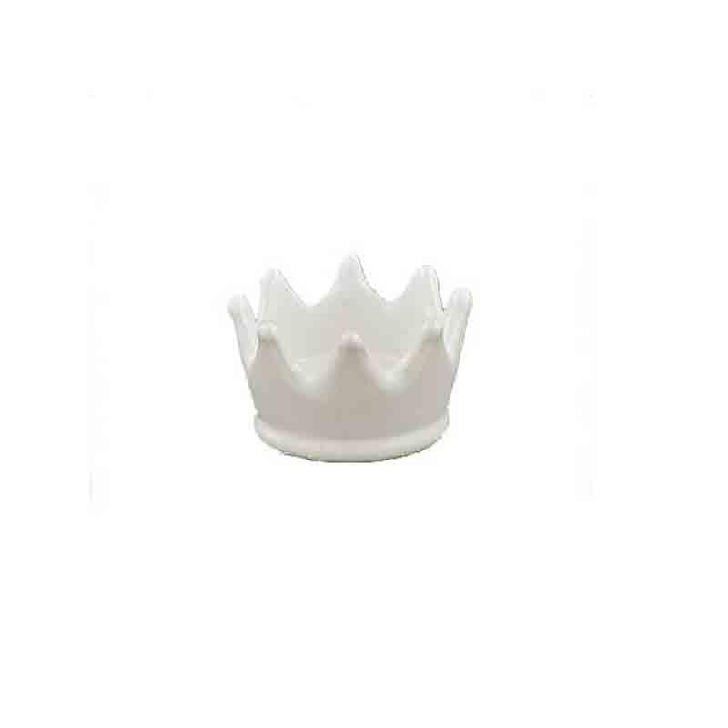 corona decorativa bianco perla 1191021 5 cm
