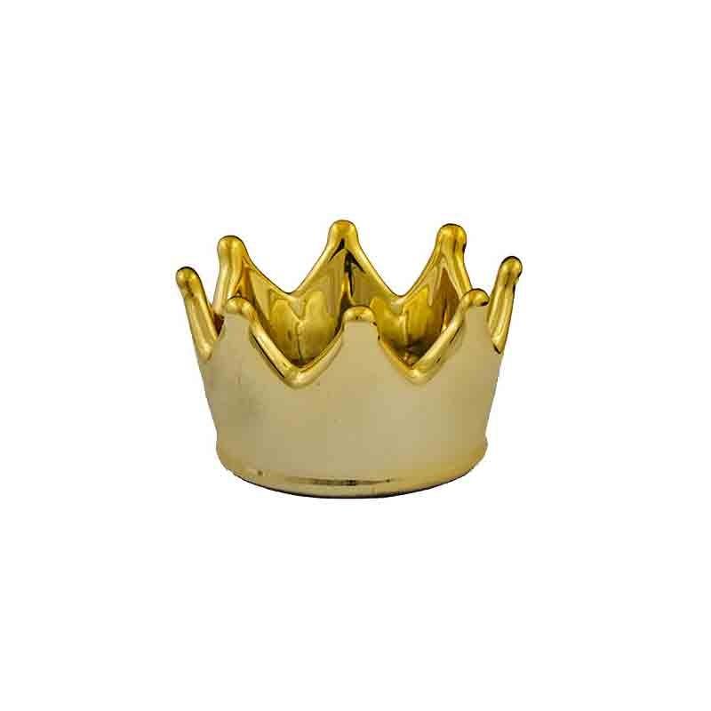 corona decorativa dorata 1191015 5 cm