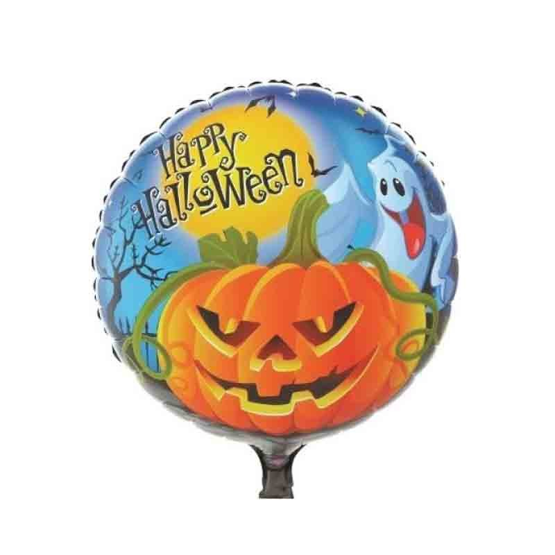 palloncino foil Tondo Zucca-Fantasma Halloween 18 45 cm