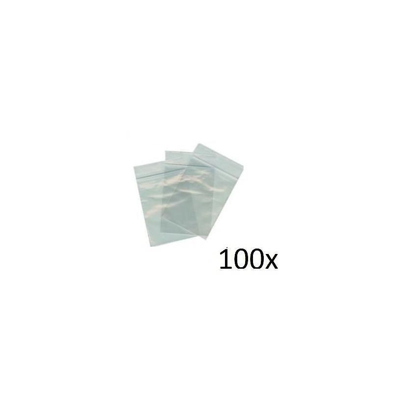 100 BUSTINE PLASTICA TRASPARENTE 10 x 6 CM CHIUSURA ADESIVA SUPERIORE
