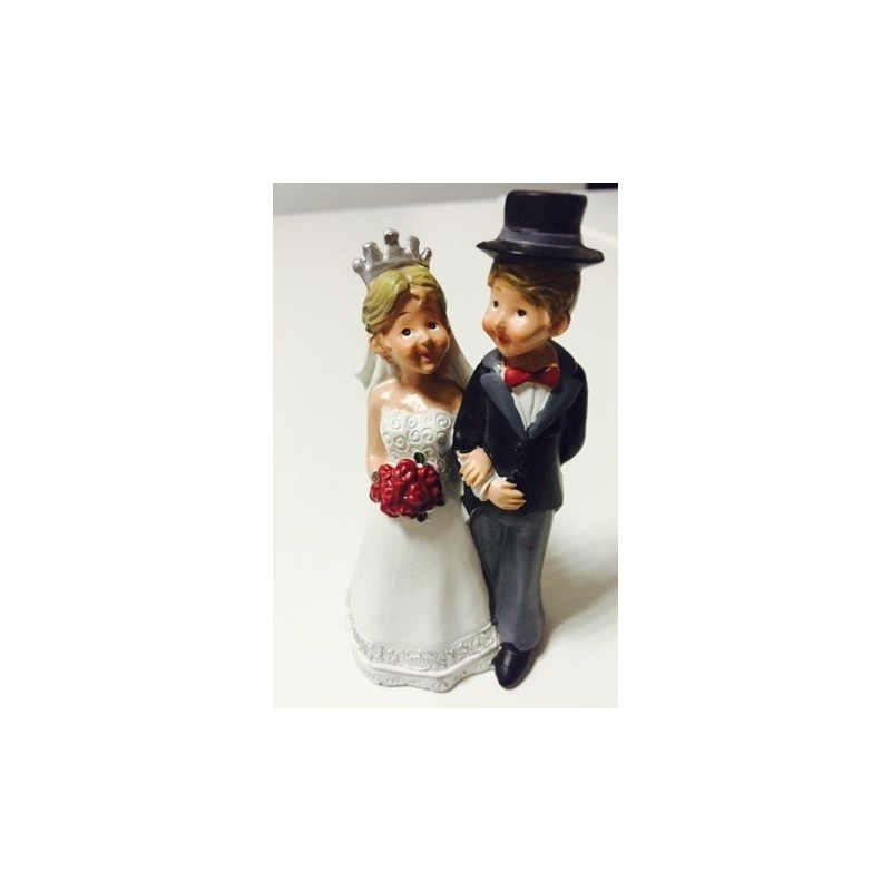CAKE TOPPER SPOSINI IN MOTO JUST MARRIED PER TORTA MATRIMONIO