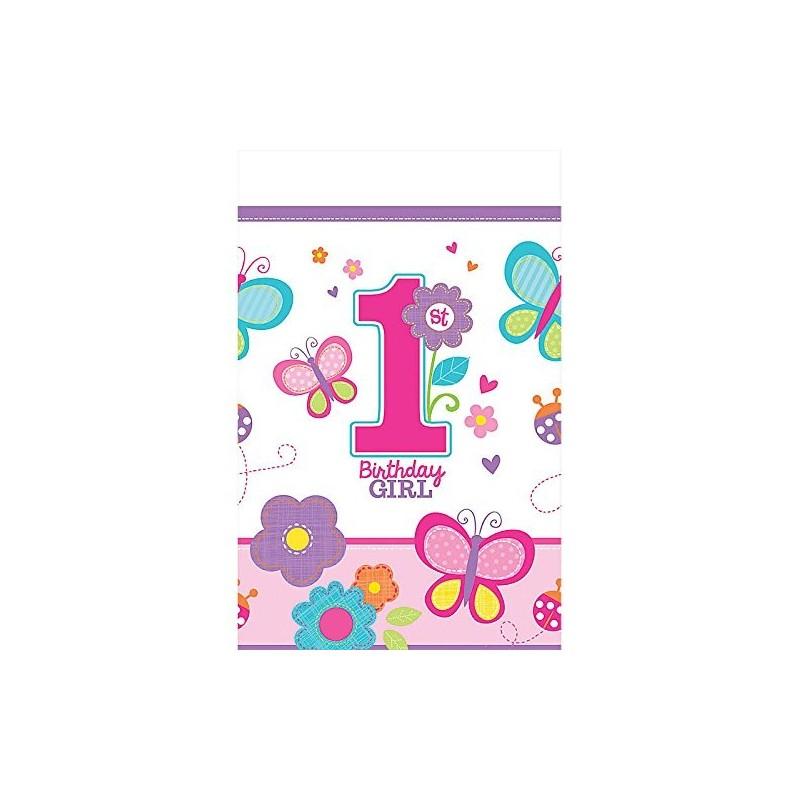 TOVAGLIA DA TAVOLA TEMA 1 ANNO BIRTHDAY GIRL 571422 PRIMO COMPLEANNO BAMBINA